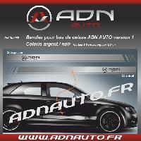 Stickers Grands Formats 2 Stickers compatible avec bas de caisse ADNAuto - Argent Noir - ADNLifestyle