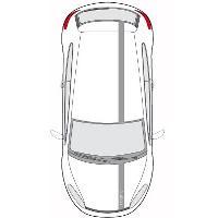 Stickers Grands Formats Set 2 Adhesifs -BANDES LOOK RACING- Gris - PROMO ADN - Car Deco - ADNAuto
