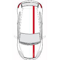 Stickers Grands Formats Set 2 Adhesifs -BANDES LOOK RACING- Rouge - PROMO ADN - Car Deco - ADNAuto