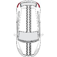 Stickers Grands Formats Set 2 Adhesifs -RACING BANDE- Full Color - PROMO ADN - Car Deco - ADNAuto