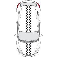 Stickers Grands Formats Set 2 Adhesifs -RACING BANDE- Full Color - PROMO ADN - Car Deco Generique