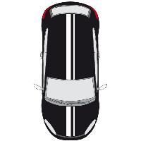 Stickers Grands Formats Set 2 Adhesifs -RACING BANDE GT- Blanc - PROMO ADN - Car Deco Generique