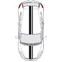 Stickers Grands Formats Set 2 Adhesifs -RACING BANDE GT- Noir - PROMO ADN - Car Deco - ADNAuto