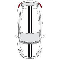 Stickers Grands Formats Set 2 Adhesifs -RACING BANDE GT- Noir - PROMO ADN - Car Deco Generique