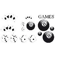 Stickers Grands Formats Set Adhesifs -ELEMENT GAMES- Noir - PROMO ADN - Car Deco