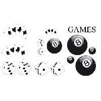 Stickers Grands Formats Set Adhesifs -ELEMENT GAMES- Noir - PROMO ADN - Car Deco Generique
