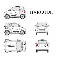 Stickers Grands Formats Set complet Adhesifs -BARCODE- Noir - Taille M - PROMO ADN - Car Deco