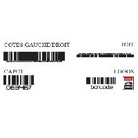 Stickers Grands Formats Set complet Adhesifs -BARCODE- Noir - Taille S - PROMO ADN - Car Deco