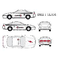 Stickers Grands Formats Set complet Adhesifs - DRIFT - Full Color - Taille M - Car Deco - ADNAuto