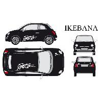 Stickers Grands Formats Set complet Adhesifs -IKEBANA- Blanc - Taille M - PROMO ADN - Car Deco - ADNAuto