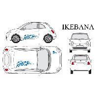 Stickers Grands Formats Set complet Adhesifs -IKEBANA- Bleu - Taille M - PROMO ADN - Car Deco