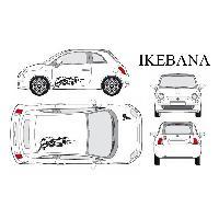Stickers Grands Formats Set complet Adhesifs -IKEBANA- Noir - Taille M - PROMO ADN - Car Deco - ADNAuto