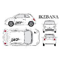 Stickers Grands Formats Set complet Adhesifs -IKEBANA- Noir - Taille M - PROMO ADN - Car Deco Generique