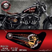 Stickers Harley Stickers Harley Davidson Sportster CHERRY BOMB compatible avec Forty-eight Roadster Seventy-Two Iron 883 Superlow 1200 Custom