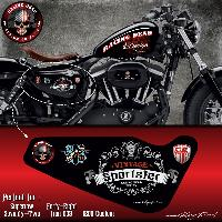 Stickers Harley Stickers Harley Davidson Sportster VINTAGE compatible avec Forty-eight Seventy-Two Iron 883 Superlow 1200 Custom