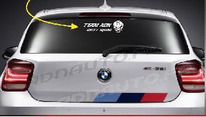 Stickers Monocouleurs 1 sticker TEAM ADN DRIFT SQUAD avec Logo - 30 cm - Blanc - ADNAuto