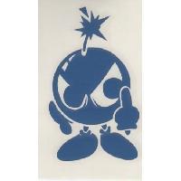 Stickers Monocouleurs Adhesif Bomba - Bleu
