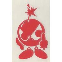 Stickers Monocouleurs Adhesif Bomba - Rouge - ADNAuto