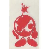 Stickers Monocouleurs Adhesif Bomba - Rouge Generique