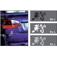 Stickers Monocouleurs Adhesif Sorciere et scorpion Blanc - ADNAuto