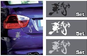 Stickers Monocouleurs Adhesif Sorciere et scorpion Blanc Generique