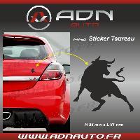 Stickers Monocouleurs Adhesif Sticker Noir - Taureau Corrida - H84mm x L90mm - ADNAuto