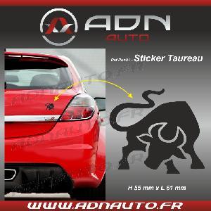 Stickers Monocouleurs Adhesif Sticker Noir - Taureau Stylise - H80mm x L90mm - ADNAuto