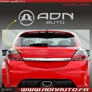 Stickers Monocouleurs Autocollant ADNAuto - Logo horizontal - Argent - 11.5cm - ADNLifestyle