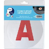 Stickers Monocouleurs Disque -A- reflechissant jeune conducteur adhesif - ADNAuto