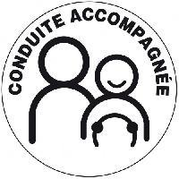 Stickers Monocouleurs Disque conduite accompagnee adhesif - ADNAuto