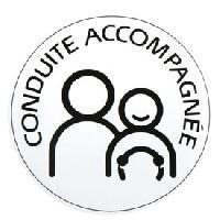 Stickers Monocouleurs Disque conduite accompagnee electrostatique - ADNAuto