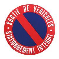 Stickers Monocouleurs Disque stationnement interdit 250mm a clouer