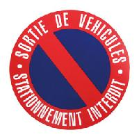 Stickers Monocouleurs Disque stationnement interdit 250mm a clouer - ADNAuto