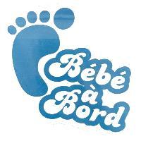 Stickers Monocouleurs Mini sticker Bebe a bord 125x95mm - garcon Generique