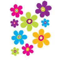 Stickers Monocouleurs Mini sticker Flower planche 150x210mm - ADNAuto