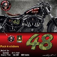 Stickers Motos Stickers DD12 Harley Davidson Sportster 48 US ARMY