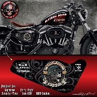 Stickers Motos Stickers Harley Davidson Sportster BAD LAND compatible avec Forty-eight Seventy-Two Iron 883 Superlow 1200 Custom