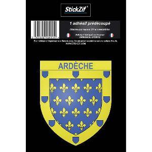 Stickers Multi-couleurs 1 Adhesif Departement Blason ARDECHE - ADNAuto