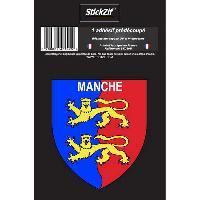 Stickers Multi-couleurs 1 Adhesif Departement Blason MANCHE