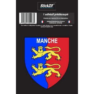 Stickers Multi-couleurs 1 Adhesif Departement Blason MANCHE Generique