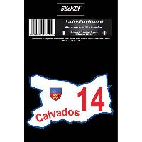 Stickers Multi-couleurs 1 Adhesif Departement CARTE CALVADOS