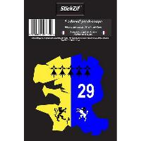 Stickers Multi-couleurs 1 Adhesif Departement CARTE FINISTERE
