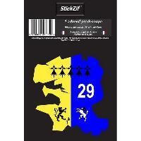 Stickers Multi-couleurs 1 Adhesif Departement CARTE FINISTERE Generique