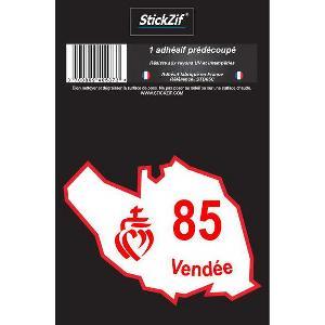 Stickers Multi-couleurs 1 Adhesif Departement CARTE VENDEE