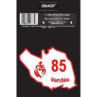 Stickers Multi-couleurs 1 Adhesif Departement CARTE VENDEE - ADNAuto