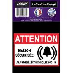 Stickers Multi-couleurs 1 Adhesif Pre-Decoupe MAISON Securisee