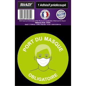 Stickers Multi-couleurs 1 Adhesif Pre-Decoupe PORT Du Masque Obligatoire