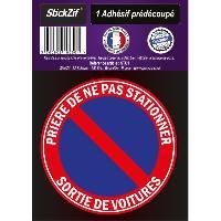 Stickers Multi-couleurs 1 Adhesif Pre-Decoupe PRIERE De Ne Pas Stationner Diametre 20cm