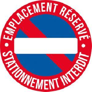 Stickers Multi-couleurs 1 Adhesif emplacement reserve diametre 25cm