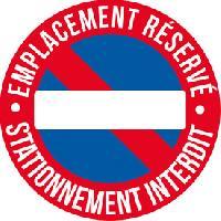 Stickers Multi-couleurs 1 Adhesif emplacement reserve diametre 25cm - ADNAuto